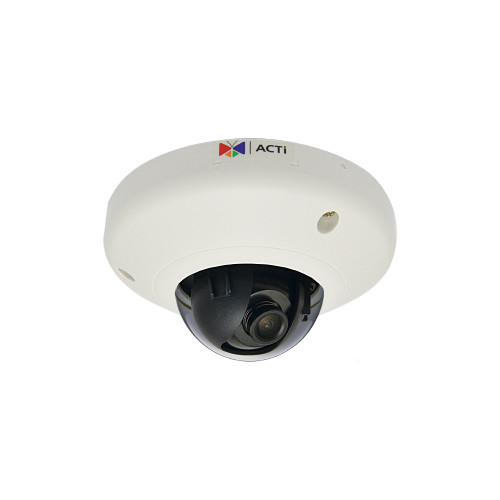 E911  -3MP, Indoor Mini Dome, Extreme WDR, Superior Low Light Sensitivity, Built-in Analytics